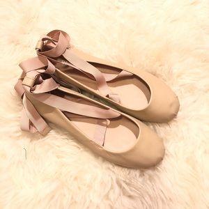 BCBGeneration Lace Up Ballet Flats